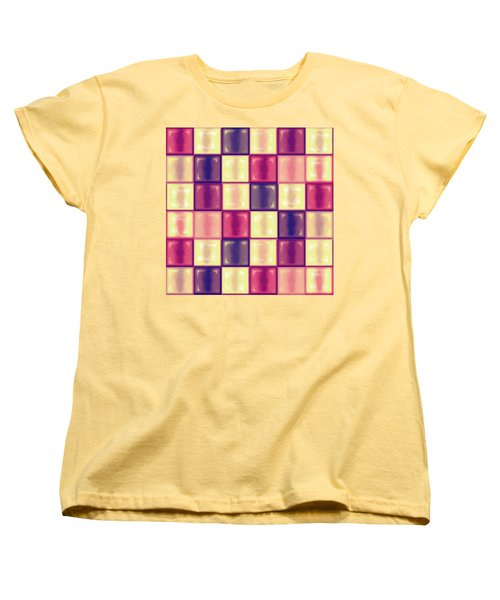 Marsala Ceramic Tiles - Square Women's T-Shirt (Standard Cut) by Shelly Weingart
