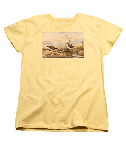 Masked Lapwing Women's T-Shirt (Standard Cut) by Mountain Dreams