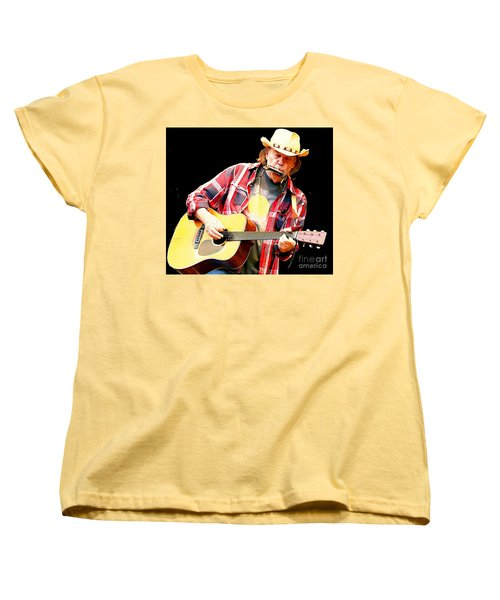 Neil Young Women's T-Shirt (Standard Cut) by John Malone