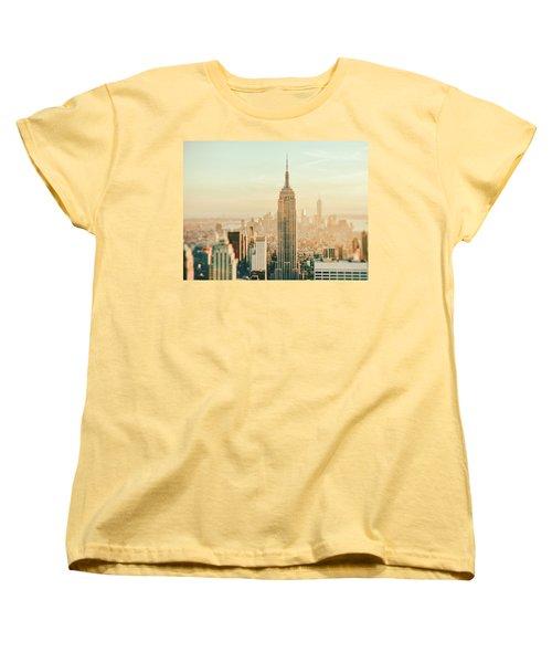 New York City - Skyline Dream Women's T-Shirt (Standard Cut) by Vivienne Gucwa