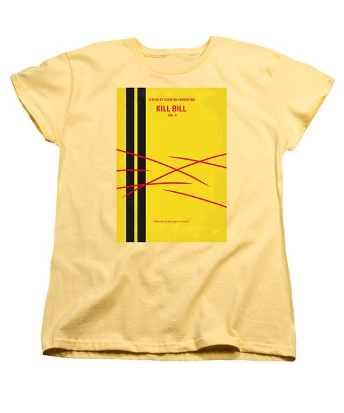 No049 My Kill Bill-part2 Minimal Movie Poster Women's T-Shirt (Standard Cut) by Chungkong Art