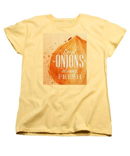 Onion Women's T-Shirt (Standard Cut) by Aloke Design