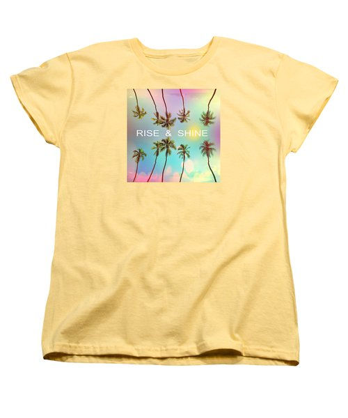 Palm Trees Women's T-Shirt (Standard Cut) by Mark Ashkenazi