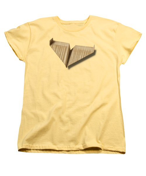 Paper Airplanes Of Wood 8 Women's T-Shirt (Standard Cut) by YoPedro
