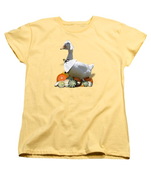 Pilgrim Duck Women's T-Shirt (Standard Cut) by Gravityx9 Designs