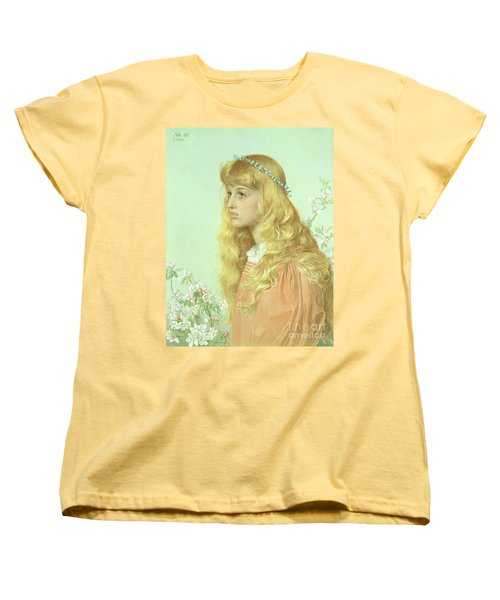 Portrait Of Miss Adele Donaldson, 1897 Women's T-Shirt (Standard Cut) by Anthony Frederick Augustus Sandys