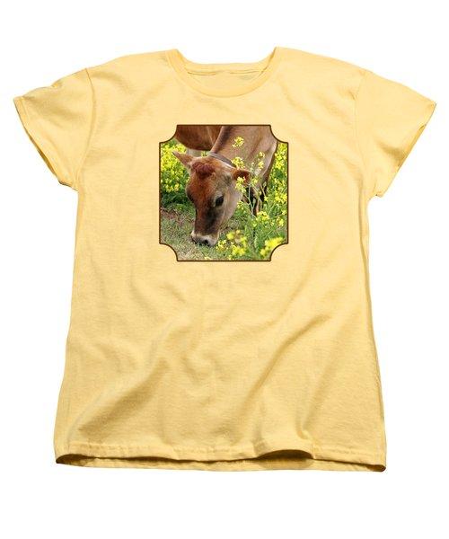 Pretty Jersey Cow - Vertical Women's T-Shirt (Standard Cut) by Gill Billington