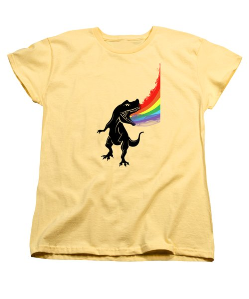 Rainbow Dinosaur Women's T-Shirt (Standard Cut) by Mark Ashkenazi