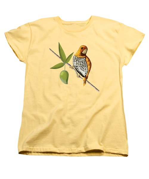 Scaly Breasted Munia D Women's T-Shirt (Standard Cut) by Thecla Correya