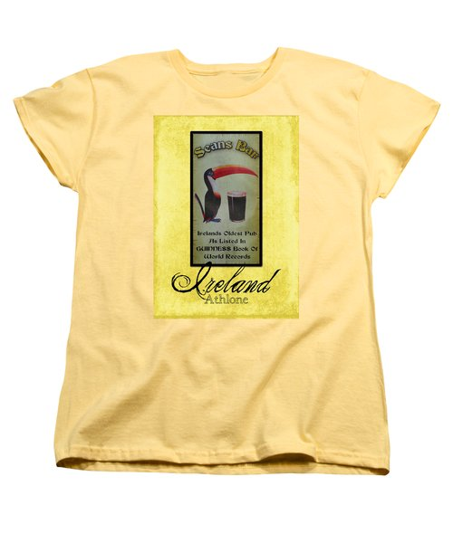 Seans Bar Guinness Pub Sign Athlone Ireland Women's T-Shirt (Standard Cut) by Teresa Mucha