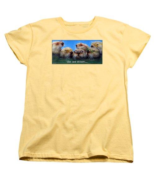 See Otters... Women's T-Shirt (Standard Cut) by Will Bullas