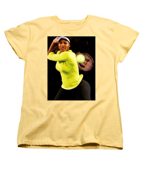 Serena Williams Bamm Women's T-Shirt (Standard Cut) by Brian Reaves