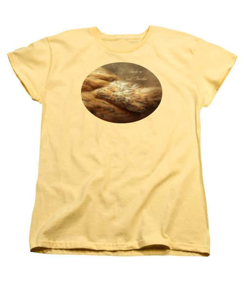 Shake A Tail Feather Women's T-Shirt (Standard Cut) by Anita Faye