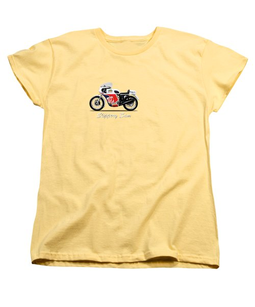 Slippery Sam Production Racer Women's T-Shirt (Standard Cut) by Mark Rogan