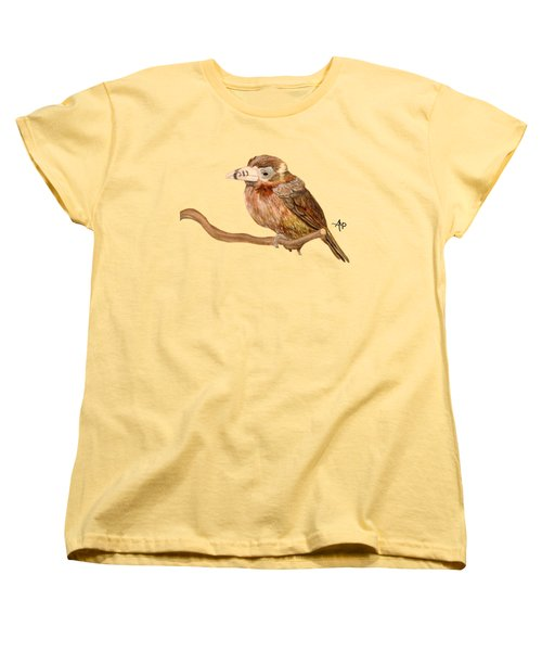 Spot-billed Toucanet Women's T-Shirt (Standard Cut) by Angeles M Pomata