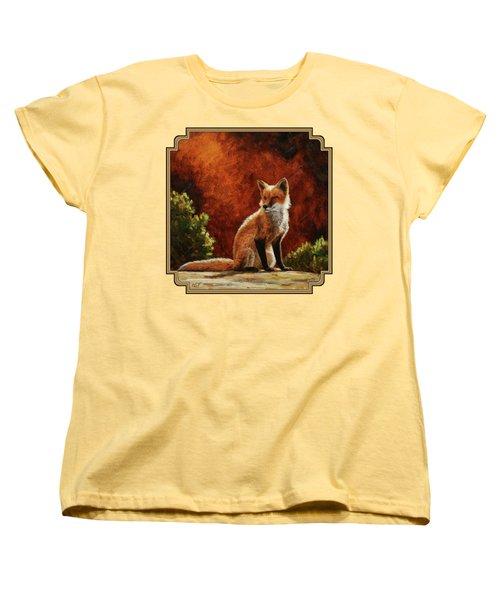 Sun Fox Women's T-Shirt (Standard Cut) by Crista Forest