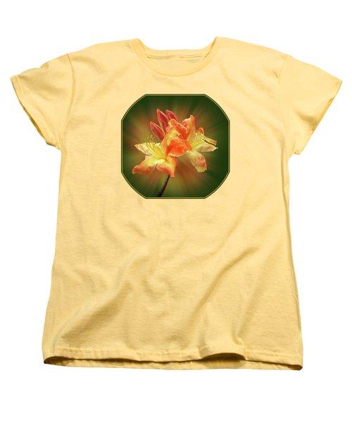 Sunburst Orange Azalea Women's T-Shirt (Standard Cut) by Gill Billington
