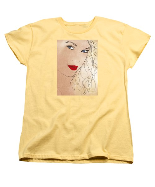 Taylor Red Lips Women's T-Shirt (Standard Cut) by Pablo Franchi