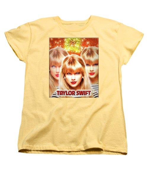Taylor Swift - Beautiful Vision Women's T-Shirt (Standard Cut) by Robert Radmore