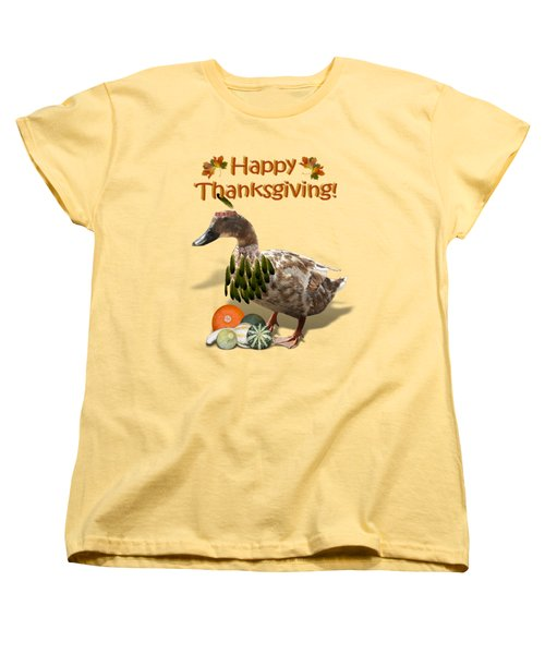 Thanksgiving Indian Duck Women's T-Shirt (Standard Cut) by Gravityx9 Designs
