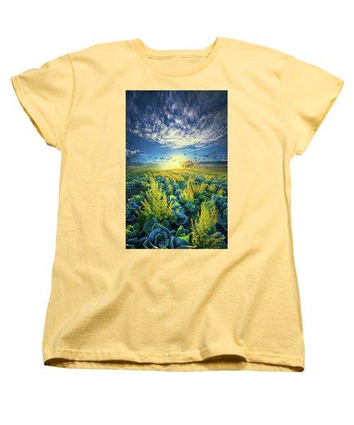 That Voices Never Shared Women's T-Shirt (Standard Cut) by Phil Koch