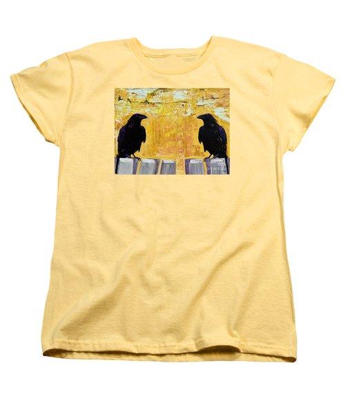 The Gossips Women's T-Shirt (Standard Cut) by Pat Saunders-White