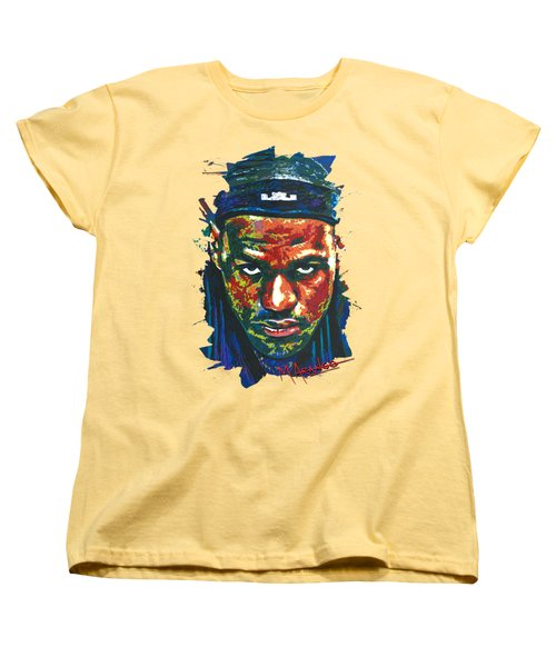The Lebron Death Stare Women's T-Shirt (Standard Cut) by Maria Arango