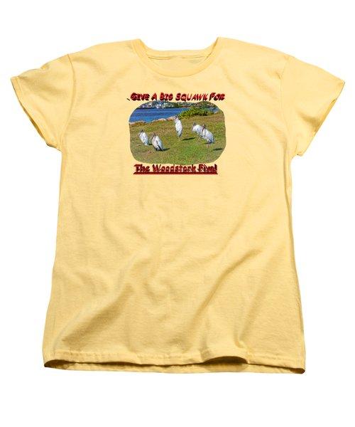 The Woodstork Five Women's T-Shirt (Standard Cut) by John M Bailey