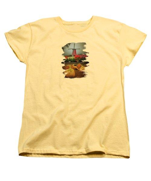 The Yellow Wooden Shoes Women's T-Shirt (Standard Cut) by Thom Zehrfeld