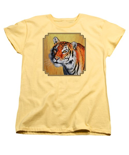 Tiger Portrait Women's T-Shirt (Standard Cut) by Crista Forest