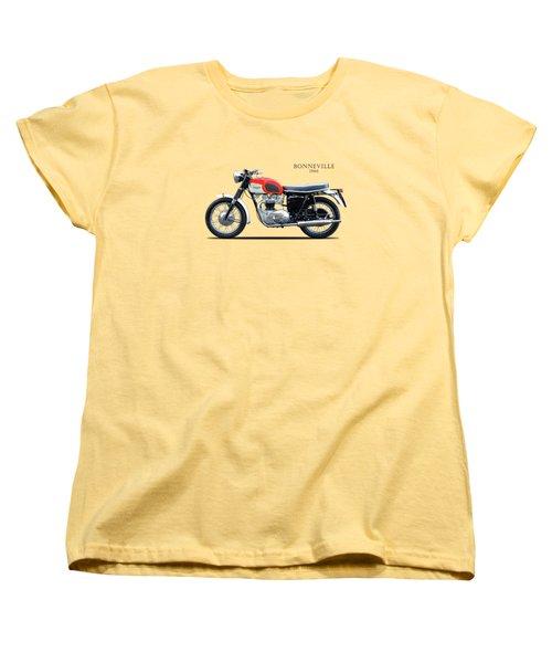 Triumph Bonneville 1966 Women's T-Shirt (Standard Cut) by Mark Rogan