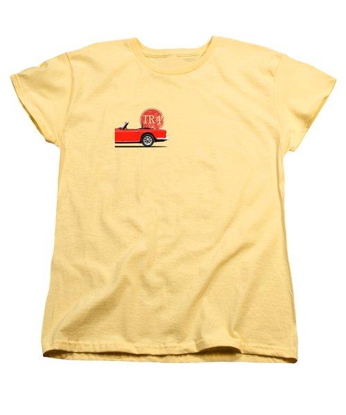 Triumph Tr4 Women's T-Shirt (Standard Cut) by Mark Rogan