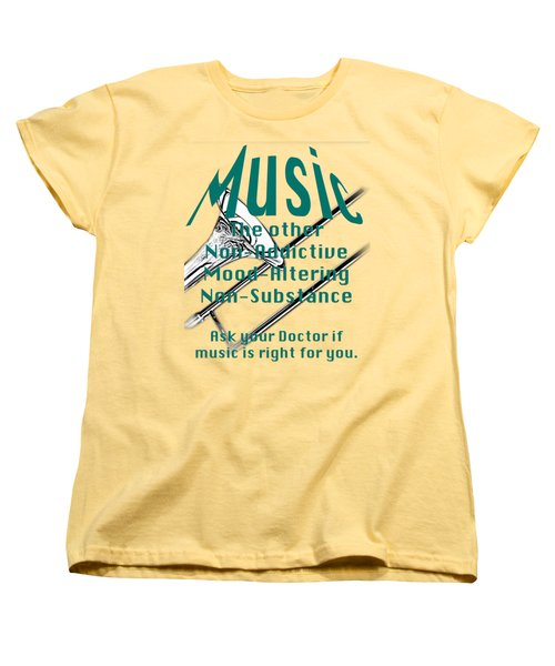 Trombone Music Is Right For You 5495.02 Women's T-Shirt (Standard Cut) by M K  Miller