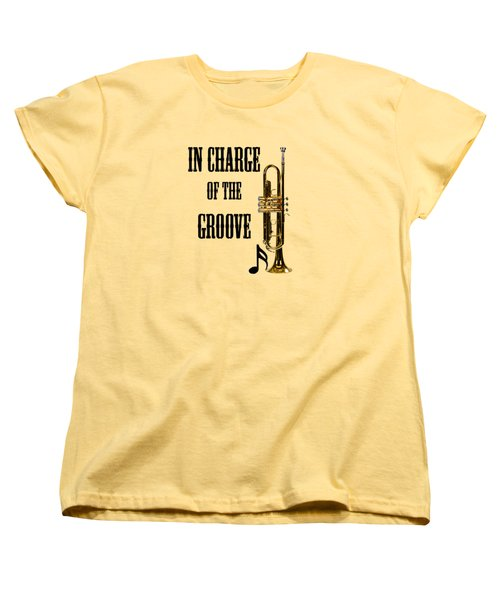 Trumpets In Charge Of The Groove 5536.02 Women's T-Shirt (Standard Cut) by M K  Miller