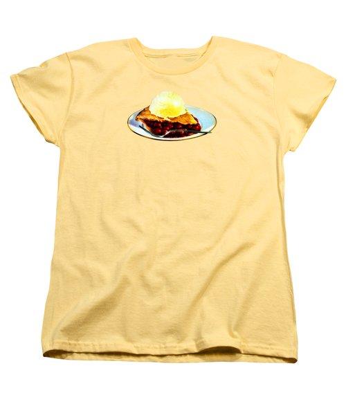 Vintage Pie A La Mode Women's T-Shirt (Standard Cut) by Historic Image