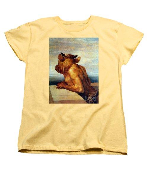 Watts: The Minotaur Women's T-Shirt (Standard Cut) by Granger