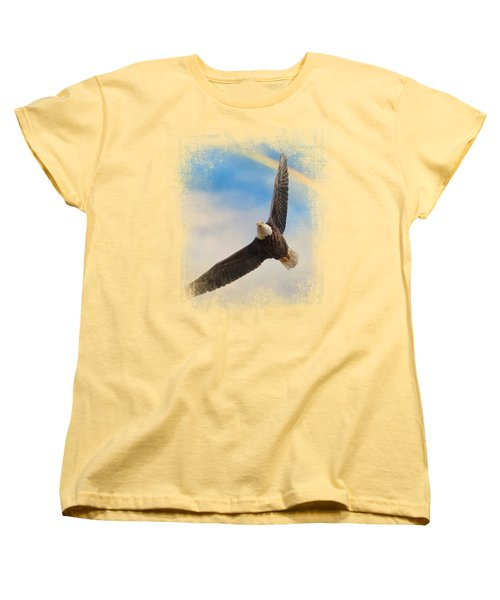 When My Wings Touch The Rainbow Women's T-Shirt (Standard Cut) by Jai Johnson