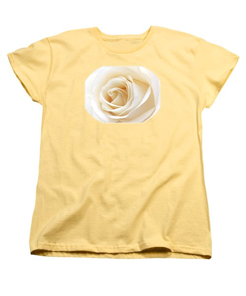White Rose Heart Women's T-Shirt (Standard Cut) by Gill Billington