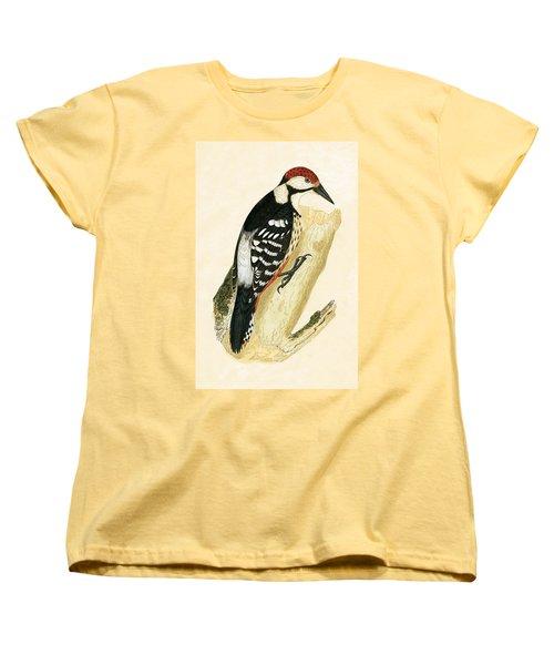 White Rumped Woodpecker Women's T-Shirt (Standard Cut) by English School