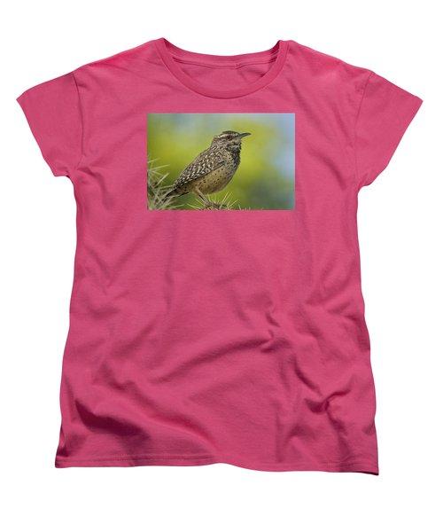 Cactus Wren  Women's T-Shirt (Standard Cut) by Saija  Lehtonen