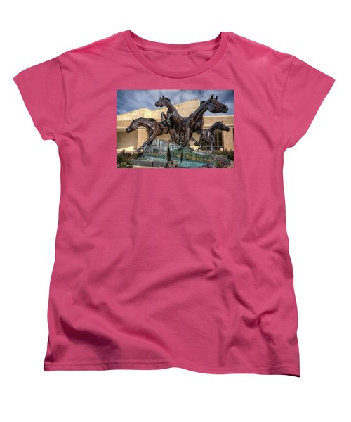 A Monument To Freedom Women's T-Shirt (Standard Cut) by Joan Carroll