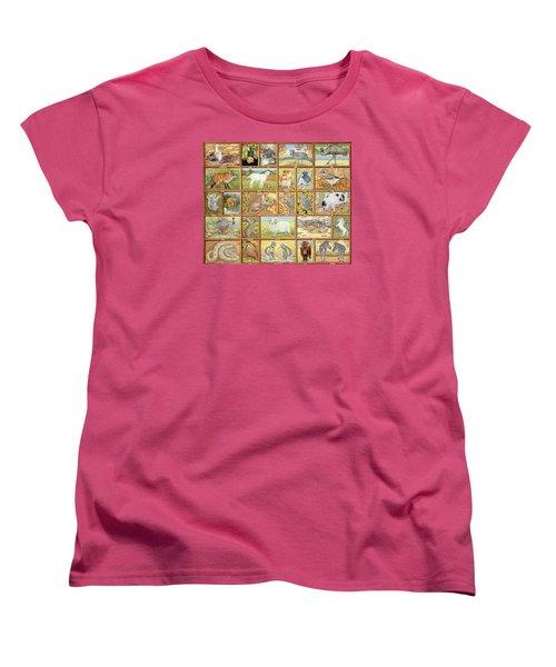 Alphabetical Animals Women's T-Shirt (Standard Cut) by Ditz