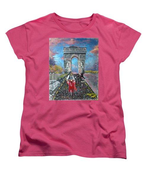 Arc De Triomphe Women's T-Shirt (Standard Cut) by Alana Meyers