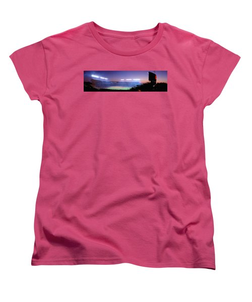 Baseball, Cubs, Chicago, Illinois, Usa Women's T-Shirt (Standard Cut) by Panoramic Images