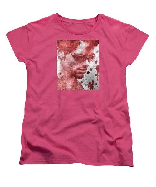 Cyclops X Men Paint Splatter Women's T-Shirt (Standard Cut) by Dan Sproul