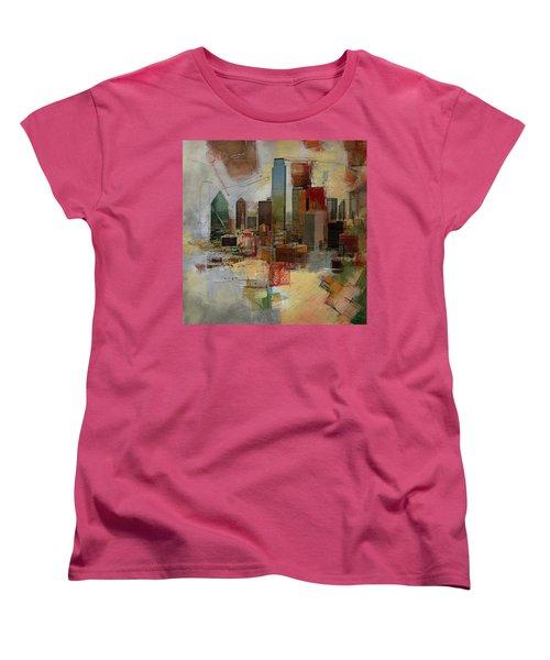 Dallas Skyline 003 Women's T-Shirt (Standard Cut) by Corporate Art Task Force