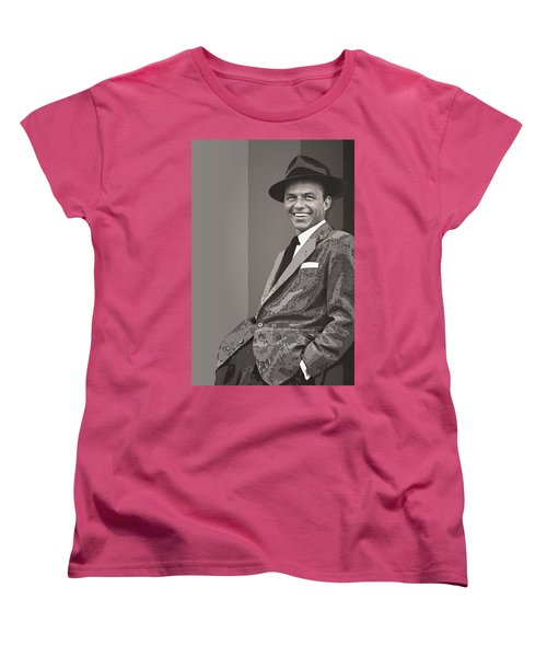 Frank Sinatra Women's T-Shirt (Standard Cut) by Daniel Hagerman