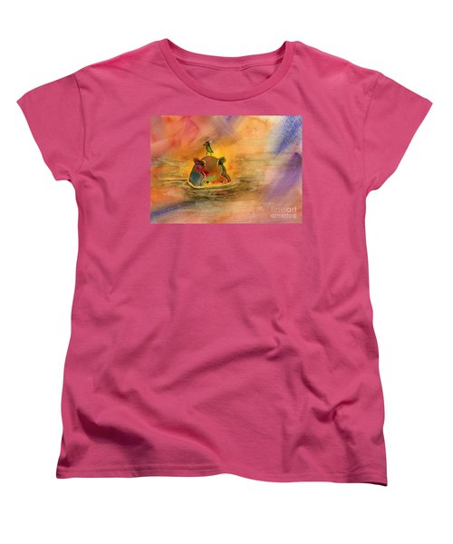 Hippo Birdie Women's T-Shirt (Standard Cut) by Amy Kirkpatrick
