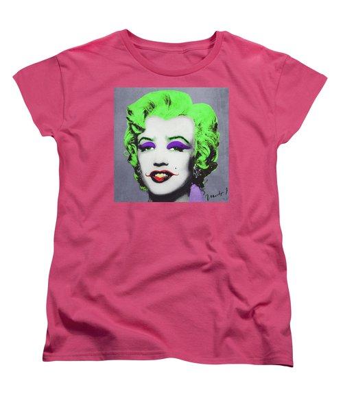 Joker Marilyn Women's T-Shirt (Standard Cut) by Filippo B