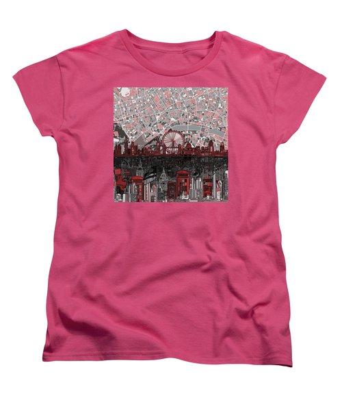 London Skyline Abstract 6 Women's T-Shirt (Standard Cut) by Bekim Art